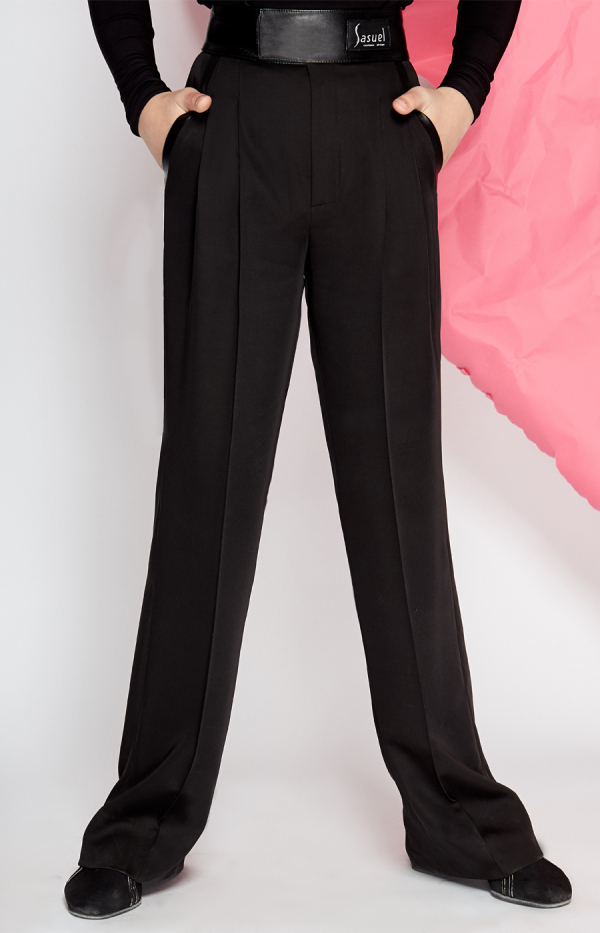 Latin trouser with wide leather waistband and pockets
