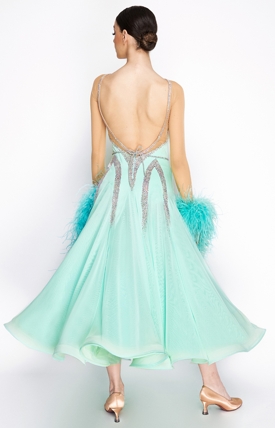 Ballroom dress Spearmint