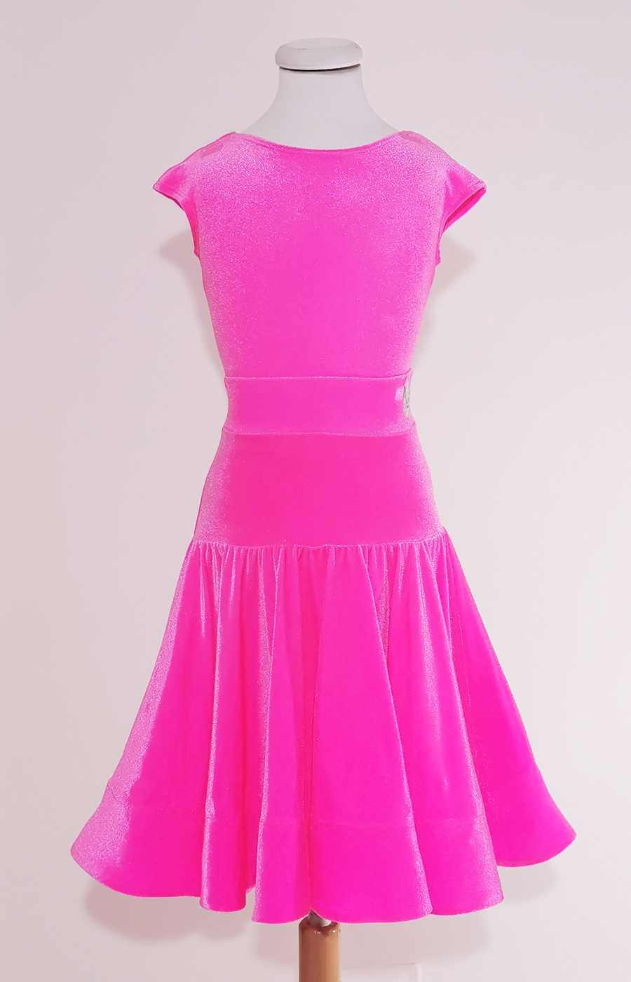 Pink fizz juvenile velvet dress