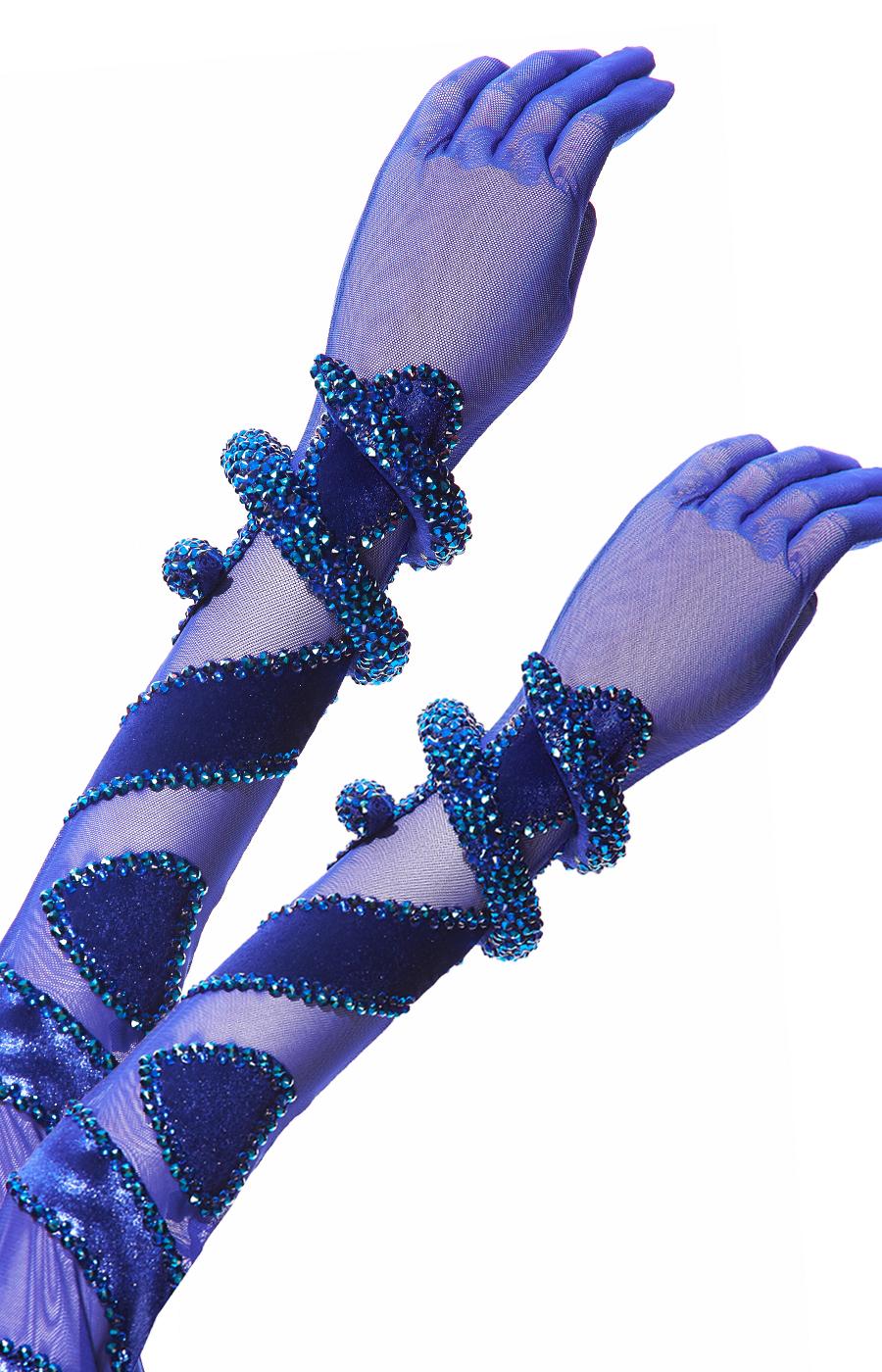 Latin dress Blue Serpent(Sponsored)