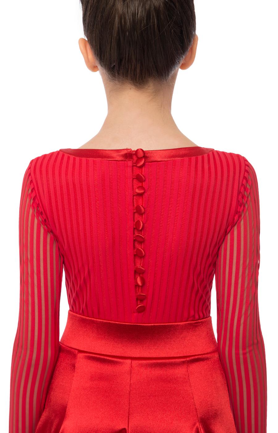 Juvenile dress striped satin_outlet