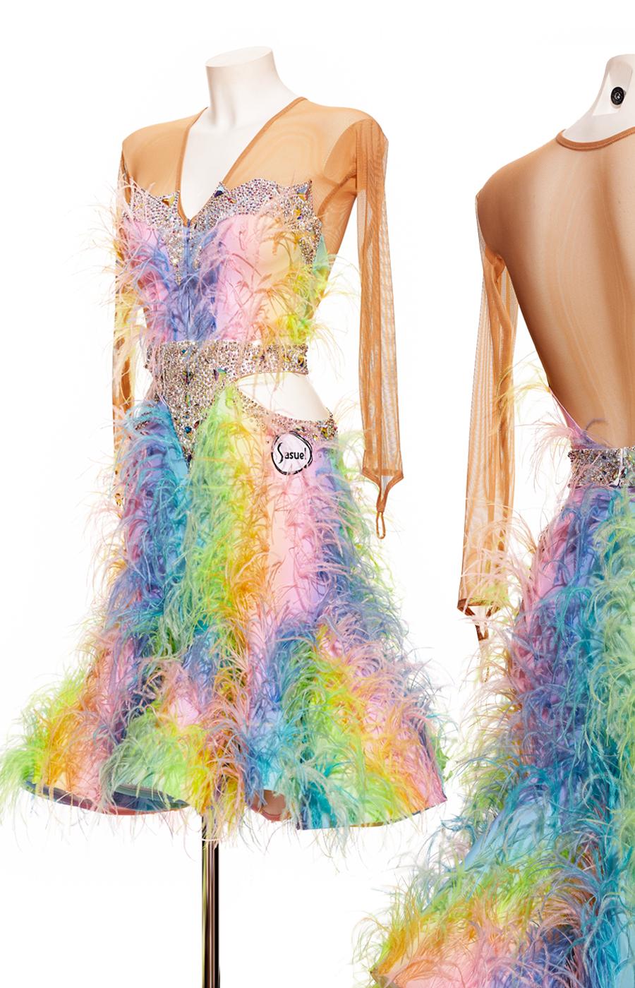 Latin dress Rainbow Kitty