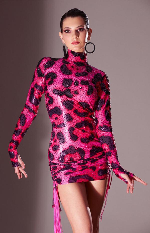 Latin dress Pink Panther_Sponsored