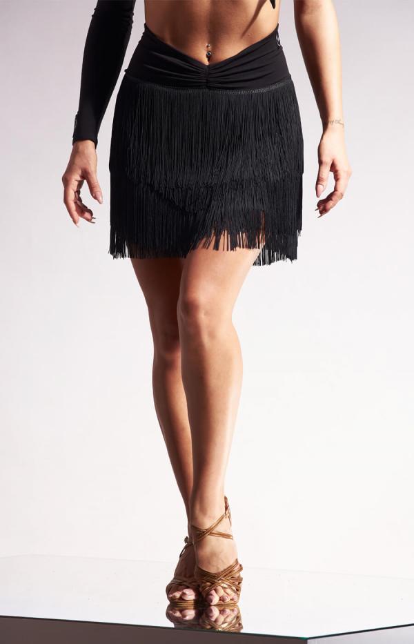 Emma short fringe skirt